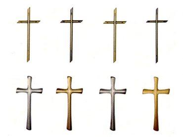 Kríž náhrobný ozdobený